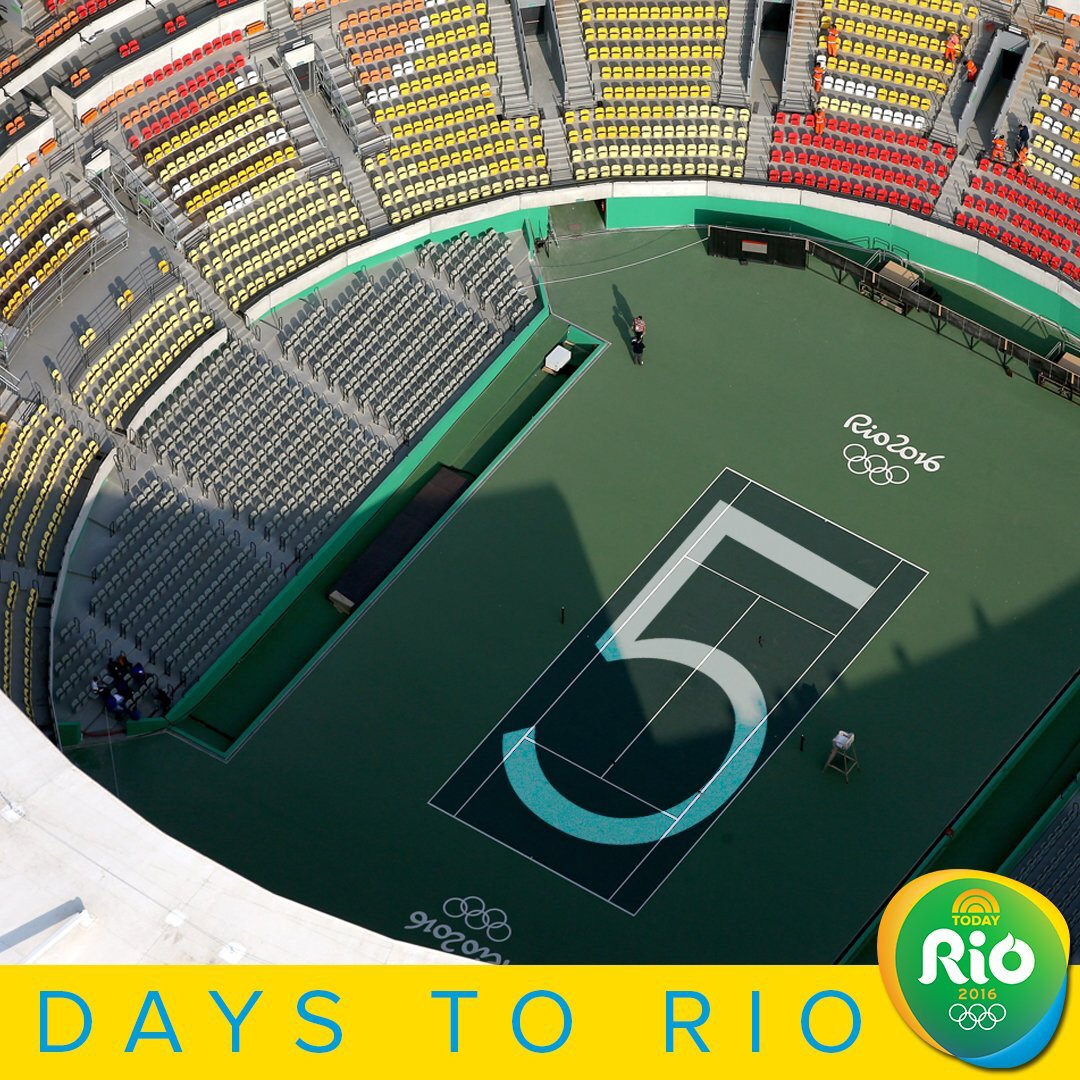 5 days until the #Olympics #RoadToRio https://t.co/MoRLfIfCFL