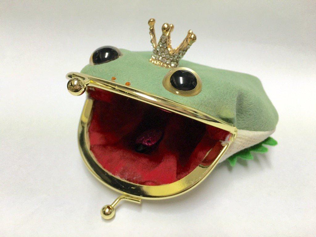 立派な王冠かぶったケロがま完成。 新作〜〜使う時、王冠ジャマかなぁ?バックチャームにしようかな?? …