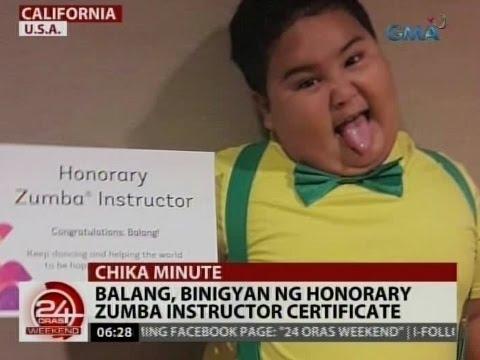Balang, binigyan ng honorary zumba instructor certificate ...