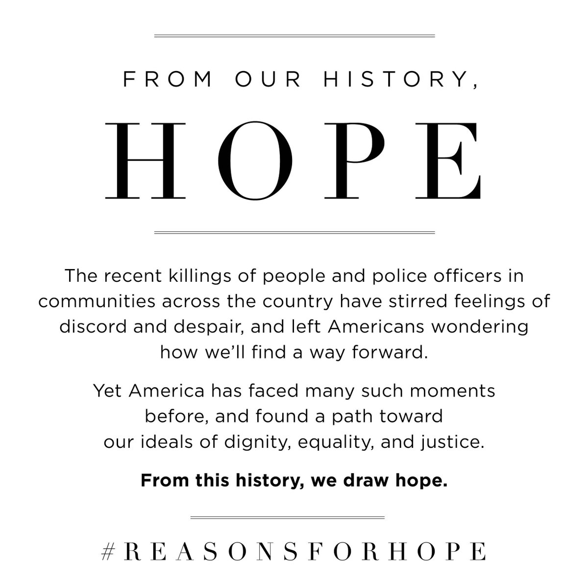 In spite of anguish & uncertainty, ideas, inspiration & action abound. Share what gives u hope with #ReasonsForHope https://t.co/bXSLaFJ9ZH
