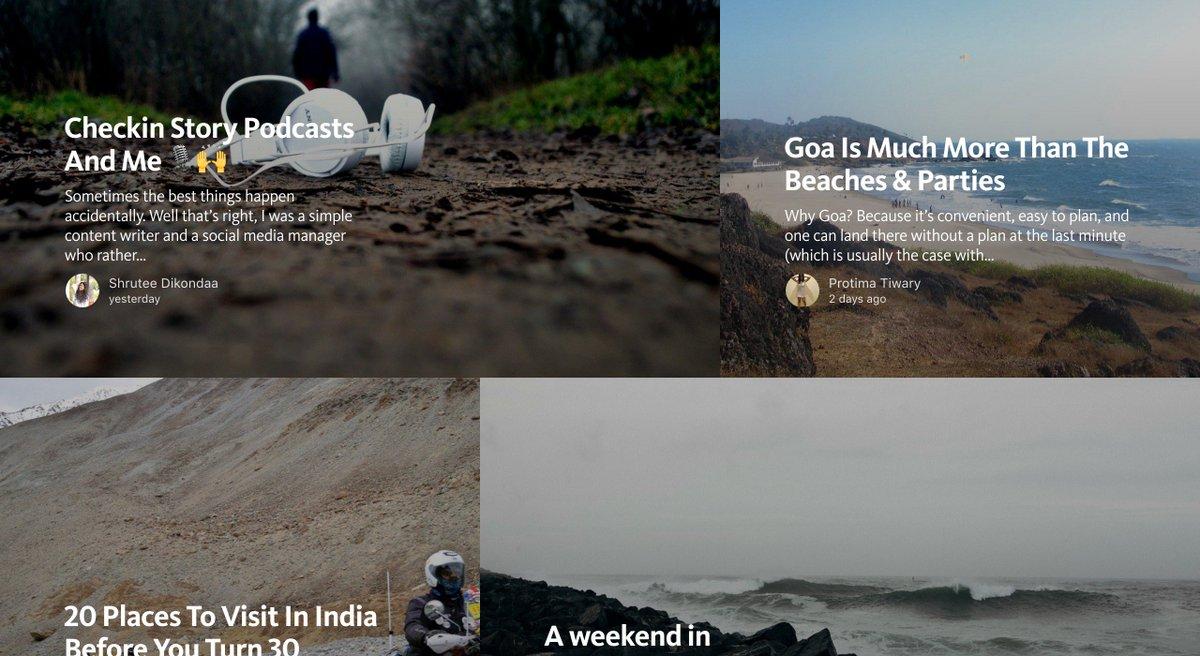 2K reading mins spent by the #Travel community already on @CheckinStory @Medium publication https://t.co/octkpaZJeX https://t.co/kcDXVuxVJi