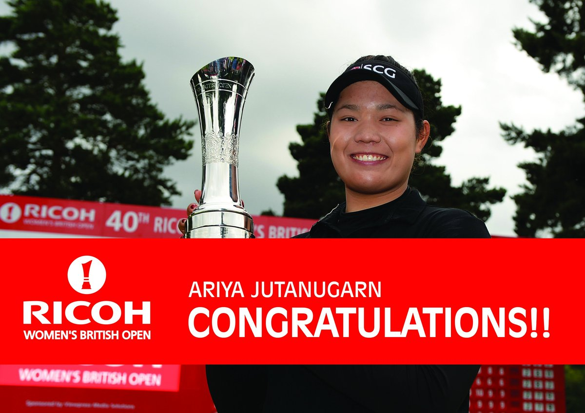 Congratulations to The 2016 Ricoh Women's British Open Champ! The first Thai Major winner in history! #RWBO16