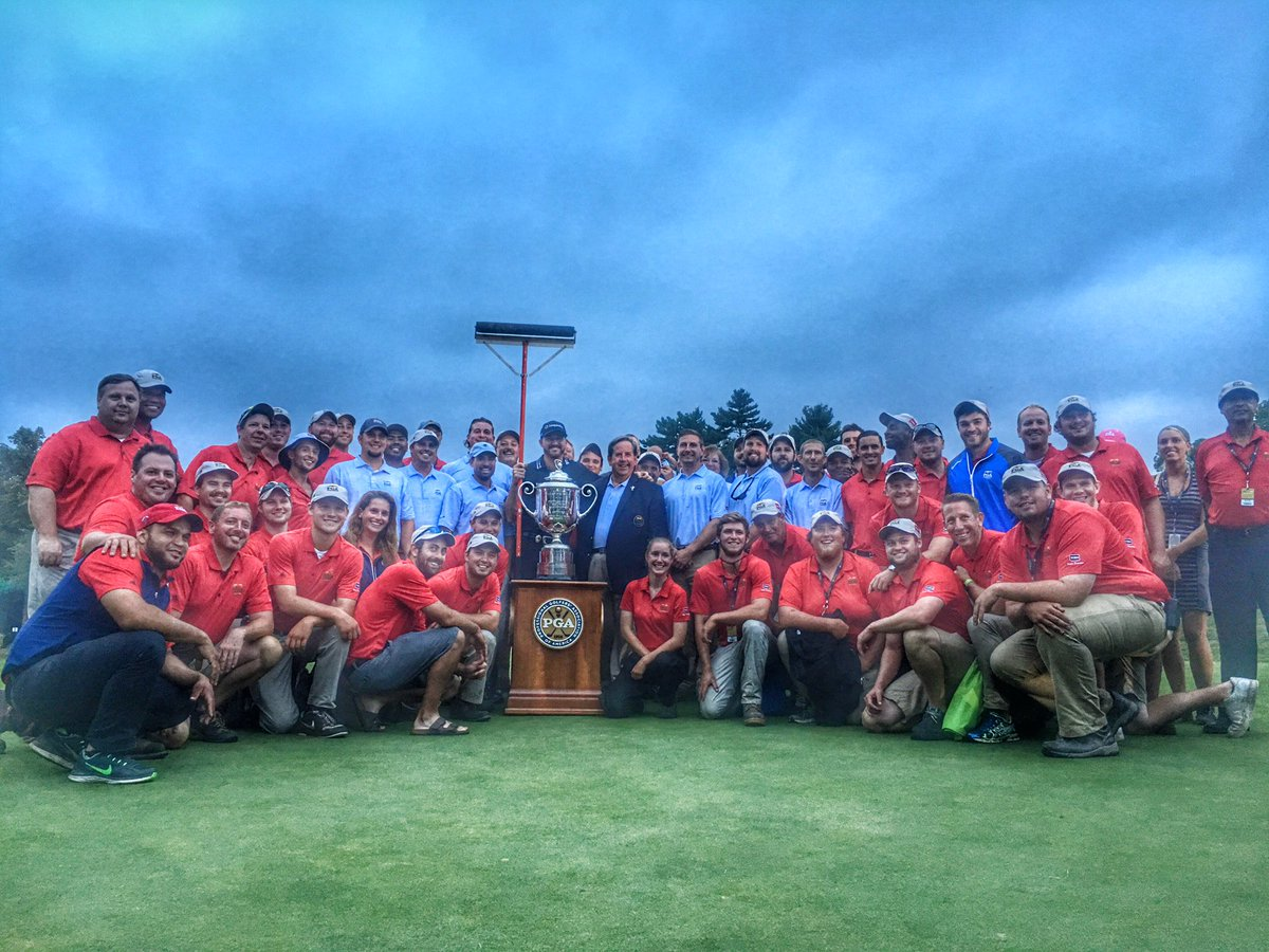 Mother Nature took on this Baltusrol Grounds Crew and she lost.  Incredible job by an incredible crew.