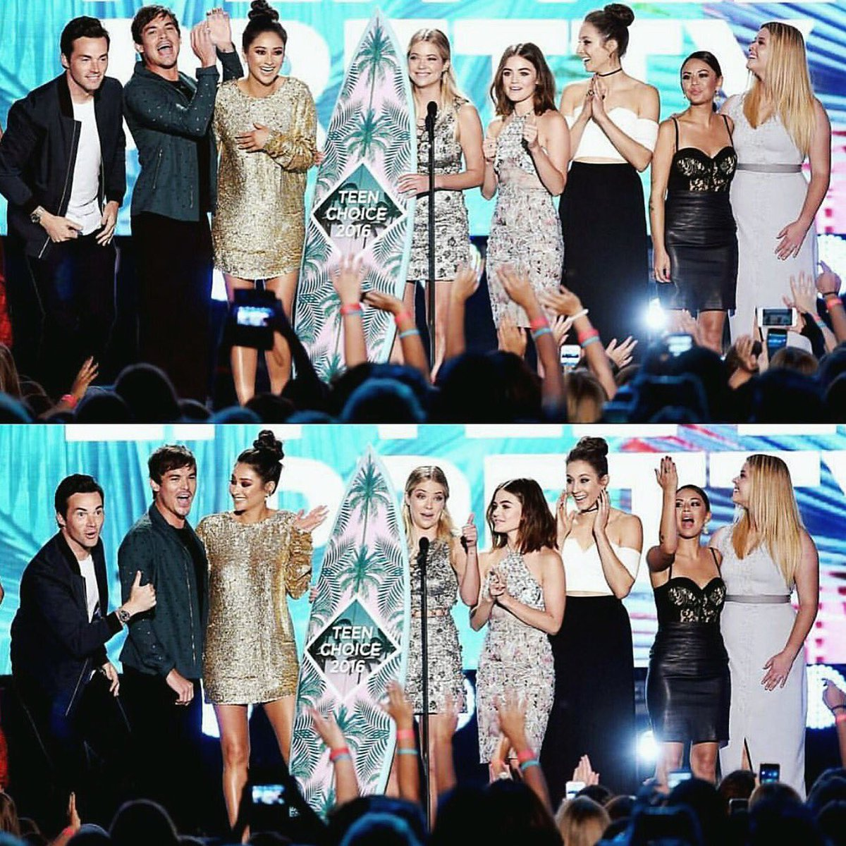 Thank you to EVERY SINGLE ONE OF YOU who voted...#PLL fans are the LOUDEST. ❤️✌☮ @TeenChoiceFOX @PLLTVSeries https://t.co/kueTfGBxfv