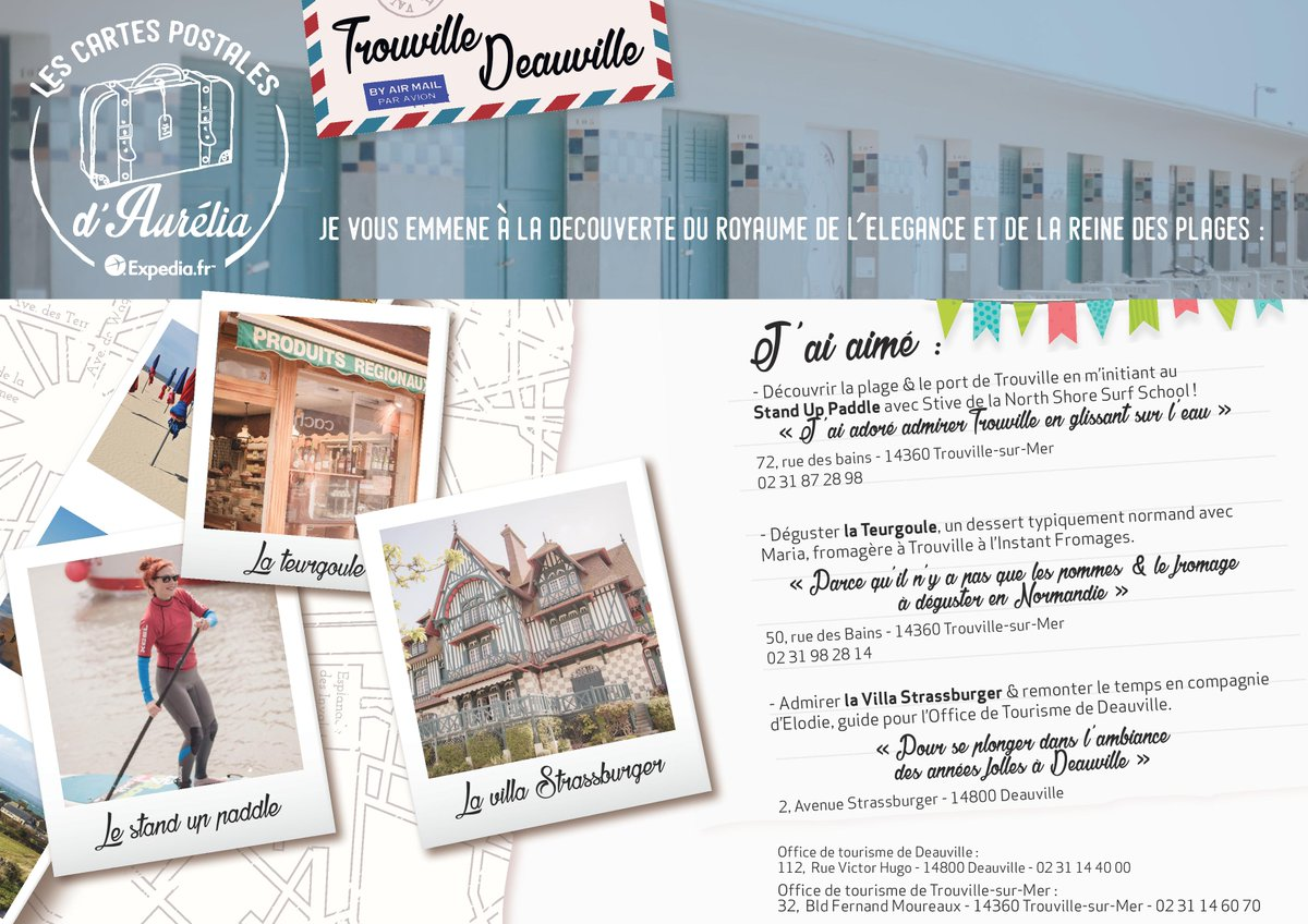 RT @blogsdevoyage #NEW ❤️ Les cartes postales d'Aurélia : Deauville & Trouville-sur-mer - Episode 1 https://t.co/aSTDmdfJxb https://t.co/Tyzy7MXZGr