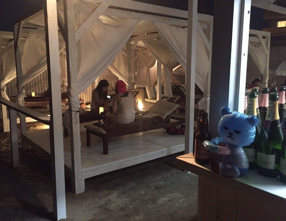 【#KRUNK X #BIGBANG BEACH】@由比ガ浜海水浴場⛱✨夜のBEACHも昼間とはまた…