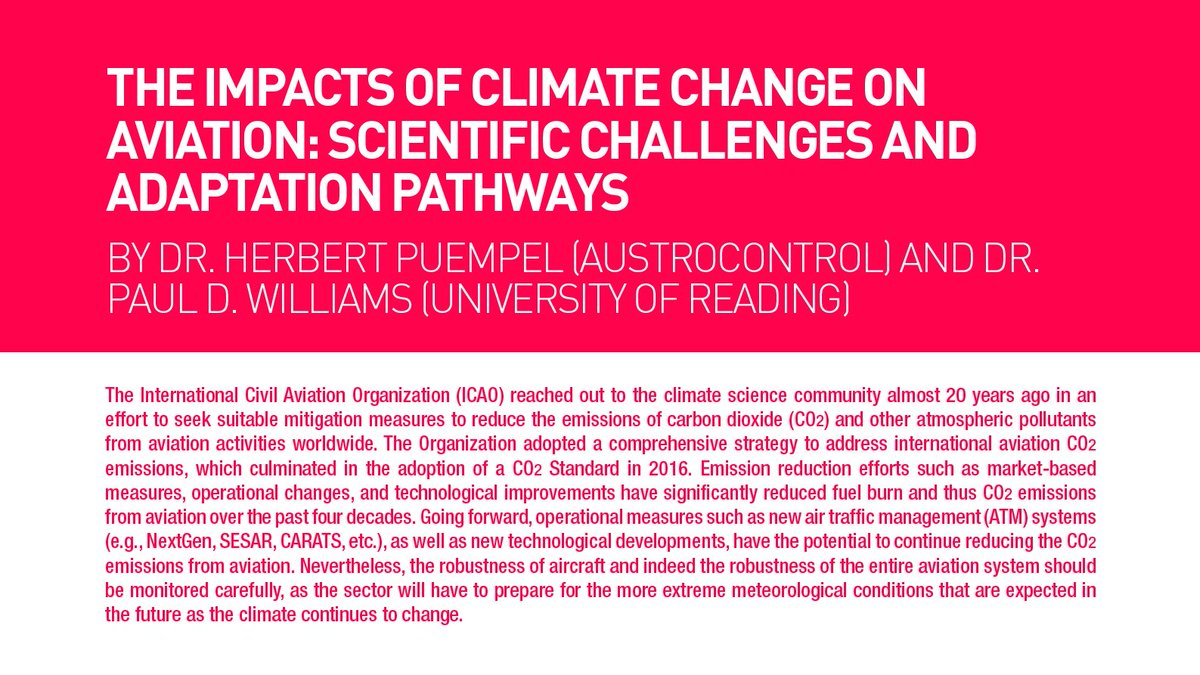 RT @DrPaulDWilliams: @icao's new environmental report is out, including our article on climate change & aviation. h…