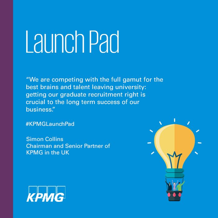 KPMG has introduced Launch Pad, a streamlined approach to grad recruitment https://t.co/244Dn2SEL3 #KPMGLaunchPad https://t.co/cs5vyTgAx7