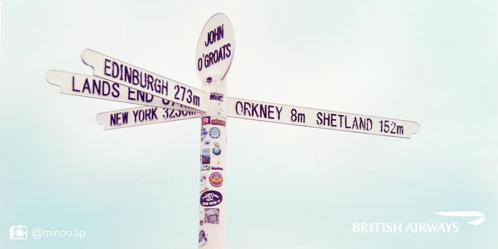 John O'Groats to Land's End spans the length of Great Britain. Think of it as our Route 66