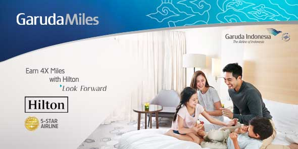 Earn more GarudaMiles for stays at any @HiltonHHonors hotels and resorts. Learn more: