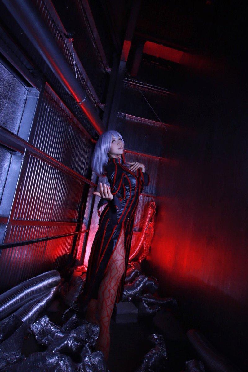 【コスプレ】Fate/stay night間桐桜(黒桜):はちや撮影:Takeさん()スタジオ: