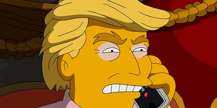 Donald Trump and Hillary Clinton get The Simpsons treatment