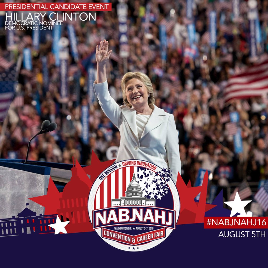 Yes, @HillaryClinton will be addressing our #NABJNAHJ16 attendees. More details to follow https://t.co/1zp8lMgaGS https://t.co/TgSCnVsE7T