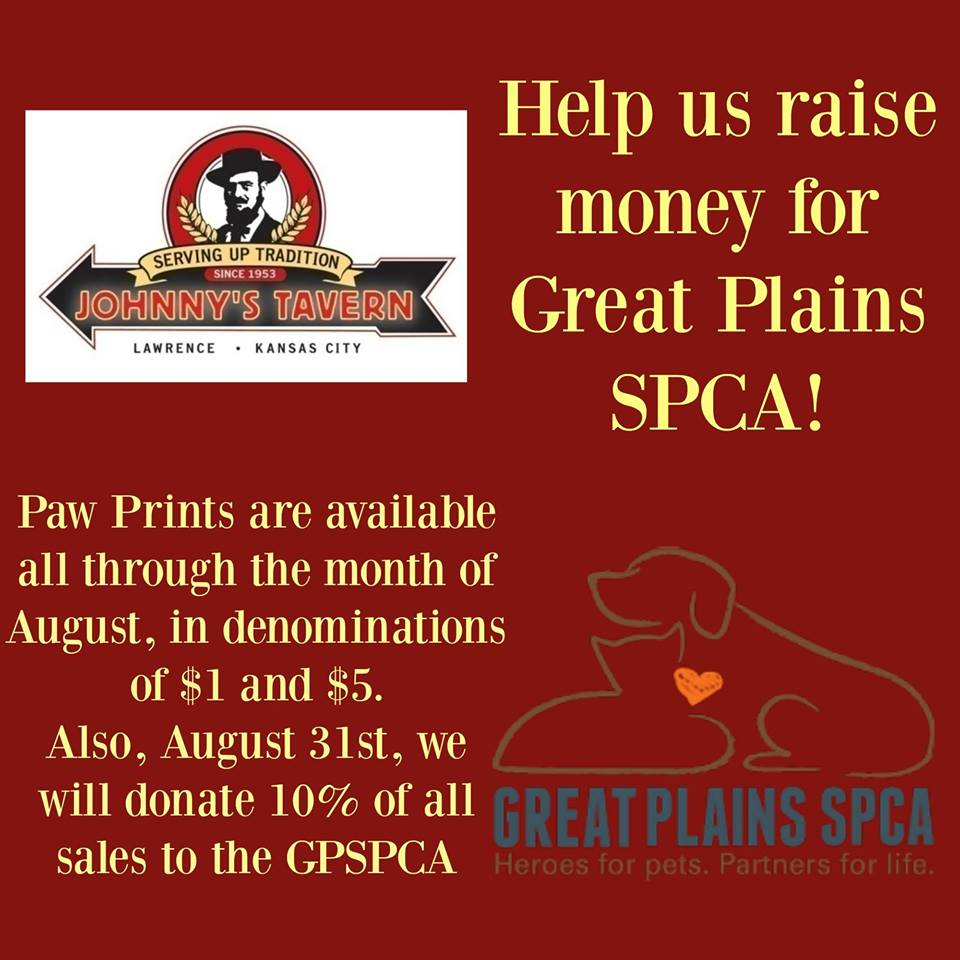 Doing this for/with the @GreatPlainsSPCA now thru Aug. 31st at ALL Johnny's locations. Woof! https://t.co/vPVEyC0yIh