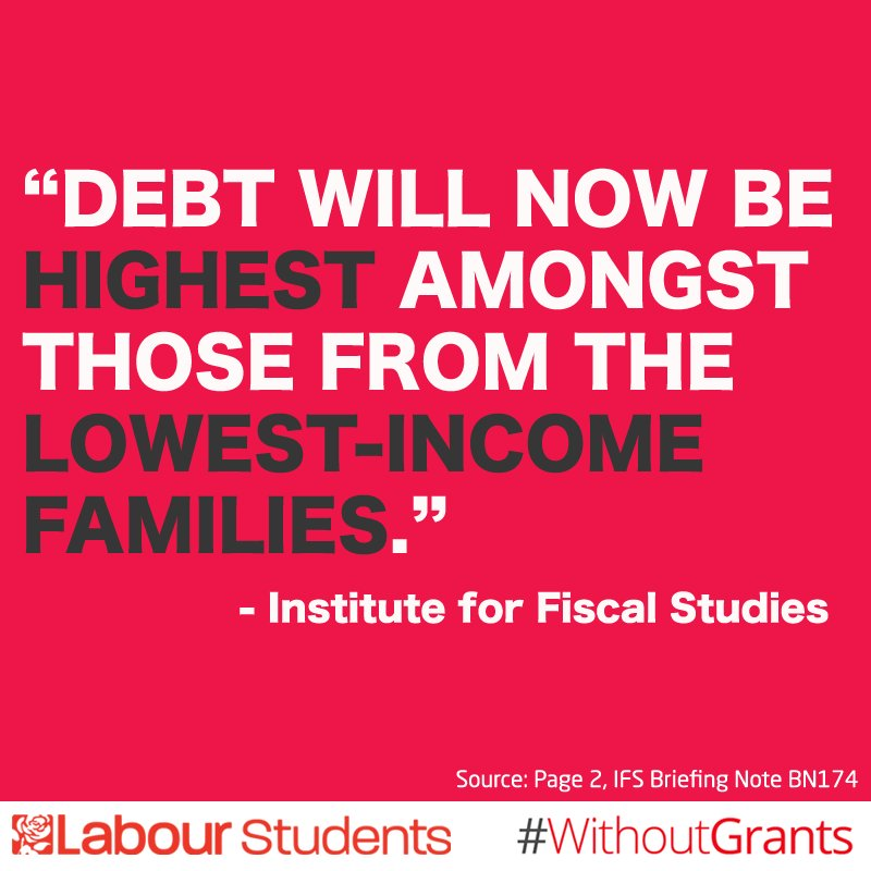 After today, never again can the Tories lecture anyone about the importance of widening access to uni #WithoutGrants https://t.co/inszkdK5Pd