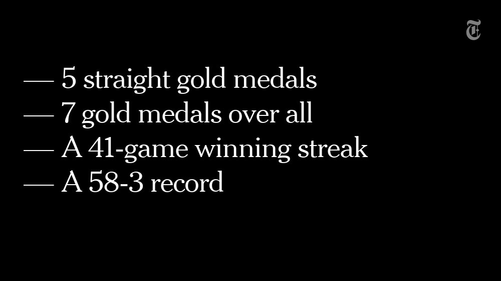These statistics help sum up the U.S. women's basketball team's dominance in the Olympics