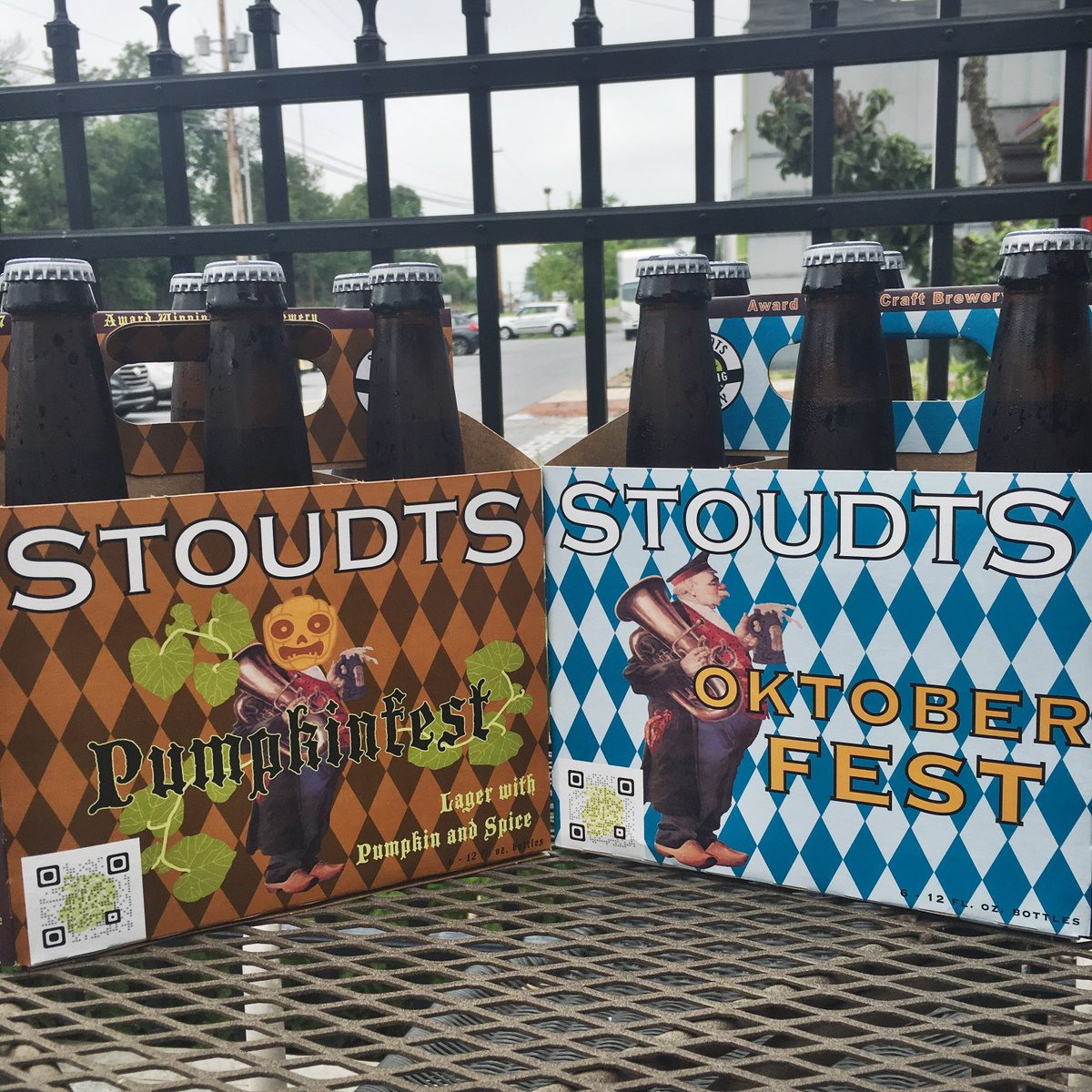 We have fresh brewed Oktoberfest and Pumpkinfest beer available for sale in the brewery and restaurant! #craftbeer https://t.co/jZeuZCWl6w
