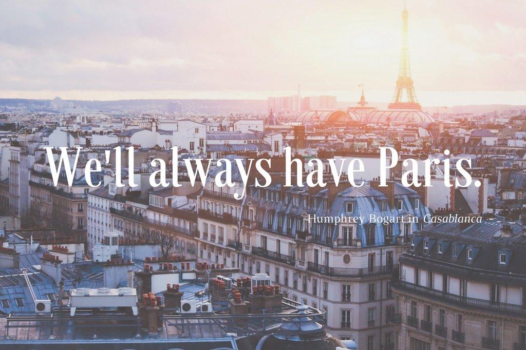 """We'll always have Paris"" - Humphrey Bogart in Casablanca 20 favourite quotes about France > https://t.co/RQqY2kcxXF https://t.co/Vw1buJG29z"