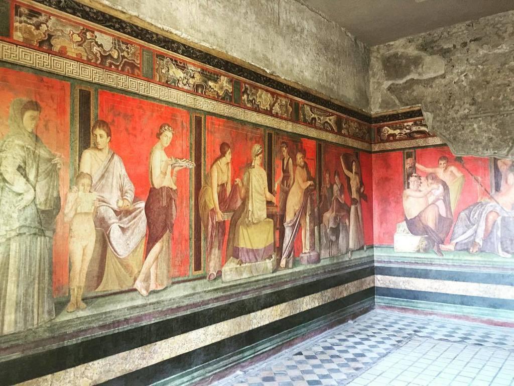 La villa des mystères ! Somptueux... #villadeimisteri #pompeii #pompeiiruins #italy