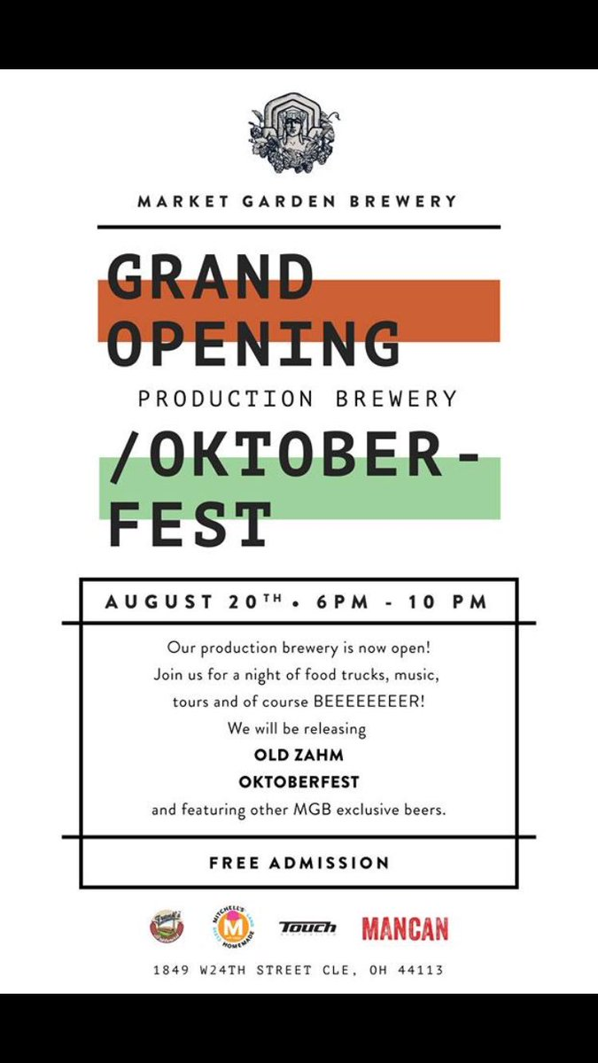Grand Opening Oktoberfest party is going down from 6-10 on 8/20. Beer by the liter & sausage by the meter! https://t.co/nD5GBPdgb8