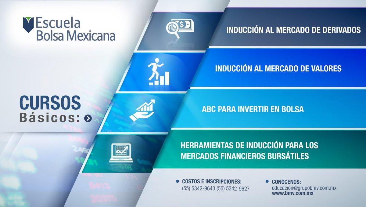 En la #EscuelaBolsaMexicana tenemos toda una gama de cursos básicos hechos para ti que vas a empezar a invertir. https://t.co/ddMupQ0sXH