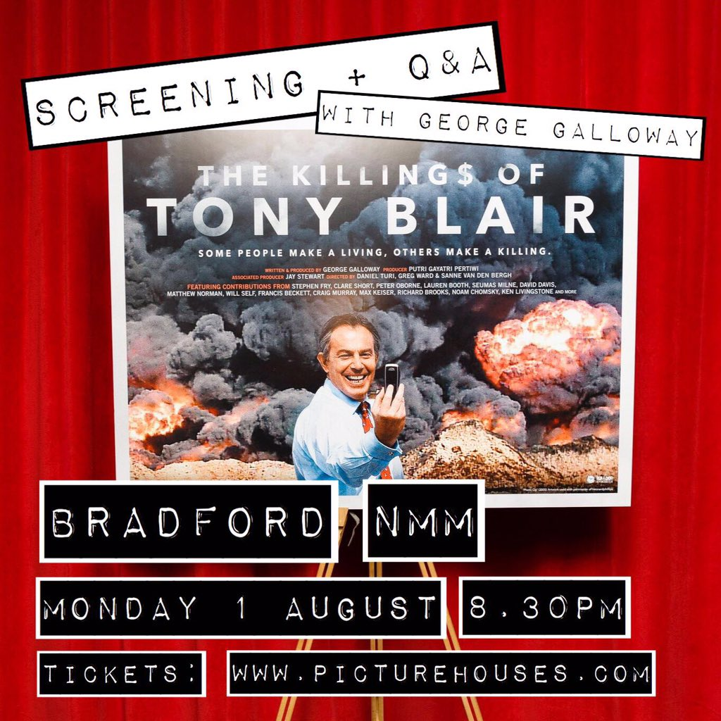 Great watch, truly recommend it!  @georgegalloway   #TonyBlair #Chilcot #wmd https://t.co/7S8rG57blS