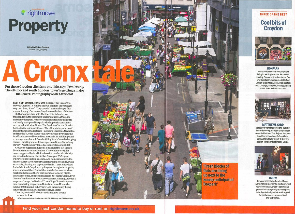 Double page feature in today's @TimeOutLondon on why #Croydon is right here, right now! https://t.co/hbanNIAuZp