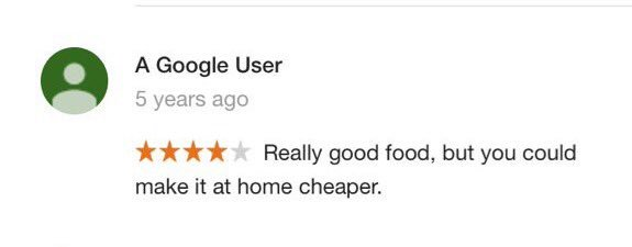"Google reviewer blows the ""restaurant"" scam wide open... https://t.co/ntJmtW8DdL"