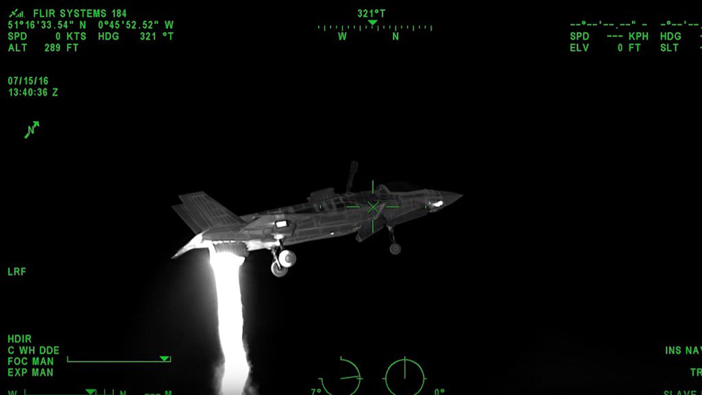 Take a look at a hovering F-35B through a high definition thermal imager