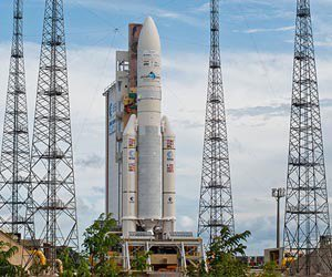 Preparations for Arianespace's upcoming Ariane 5