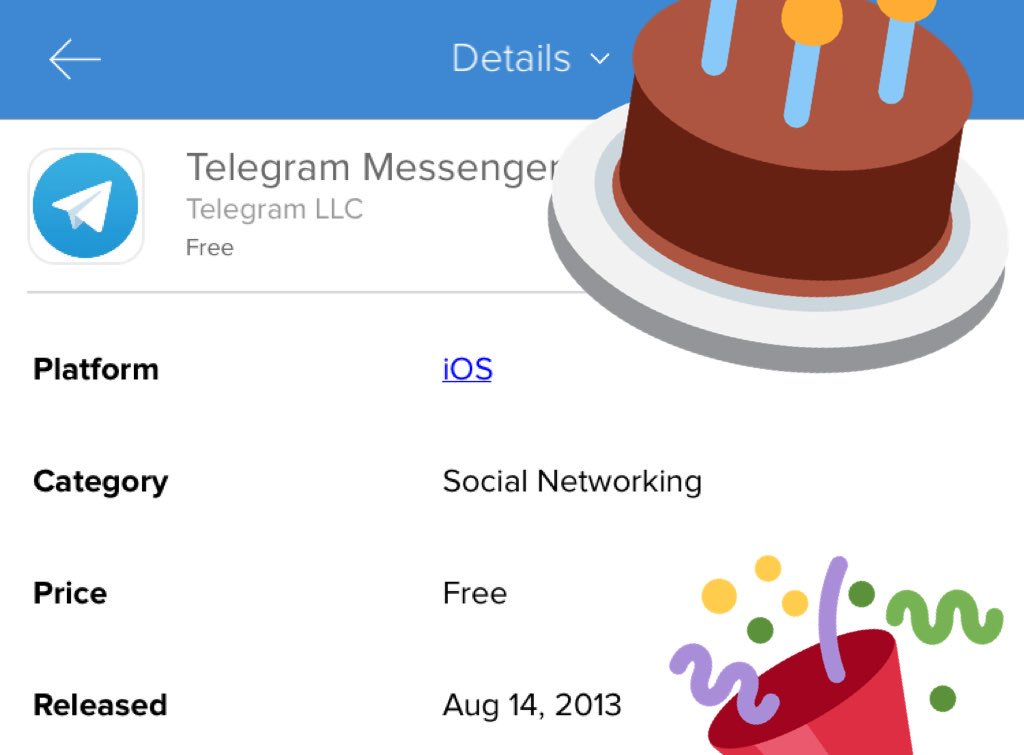 Happy Birthday @telegram! https://t.co/5bv4XyLMSV