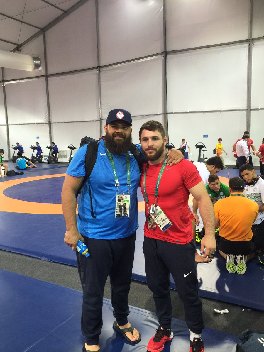 Tomorrow is a new day @b_provisor74 @rtdsmith weighed in and ready to roll #Rio2016 #wrestling #olympics @GoGreco https://t.co/PSaaFOAhgx