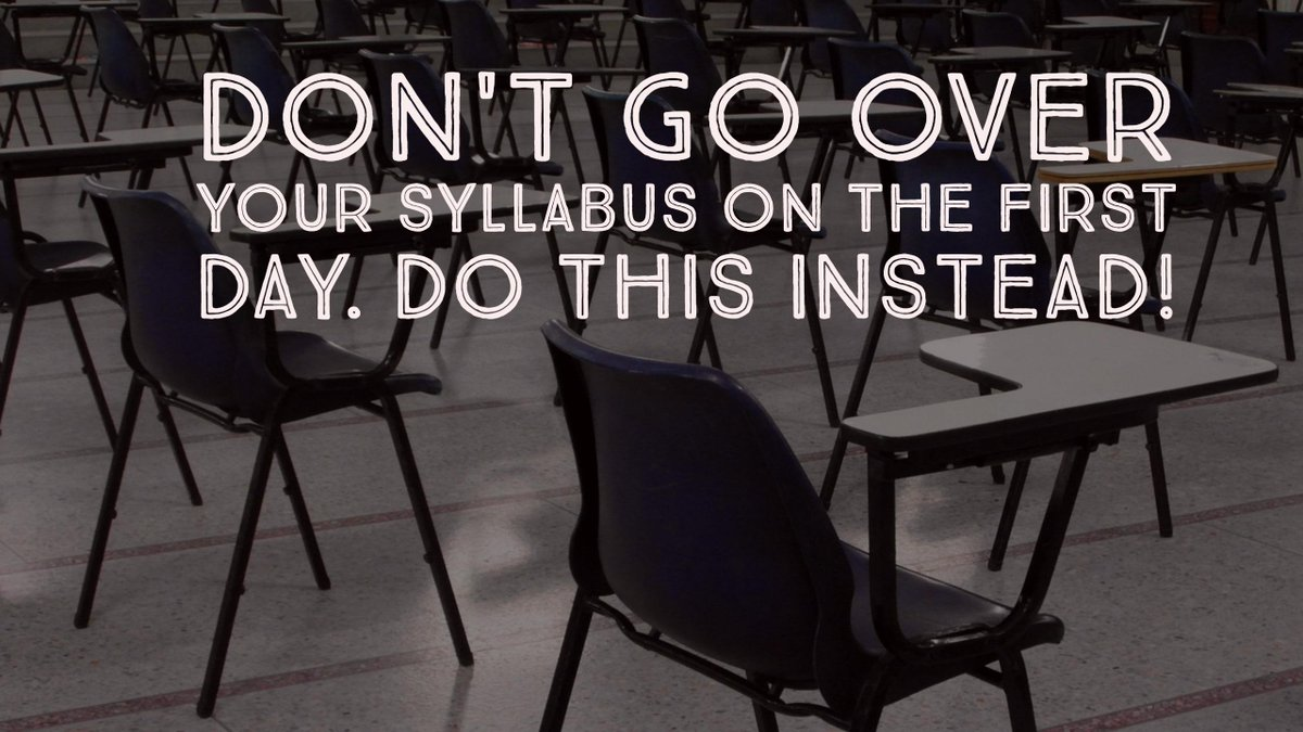Don't Go Over Your Syllabus on the 1st Day. Do This! https://t.co/iJhw7ch8AL #ILedchat #NCed #asiaed #caedchat #txed https://t.co/ejcl2l8AdW