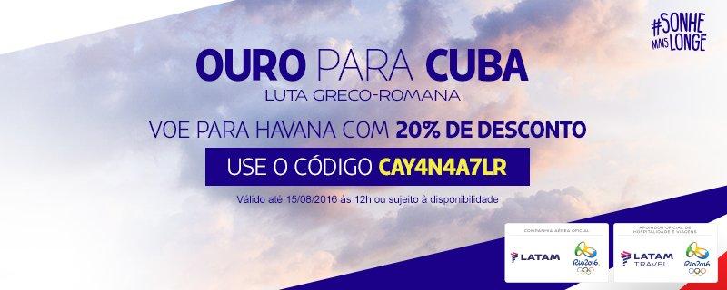 CUB é ouro na Luta greco-romana! Voe para Havana com 20% de desconto.