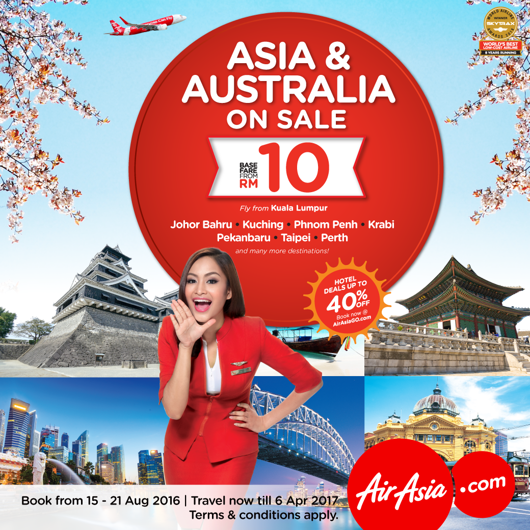 This week's specials:   ASIA & AUSTRALIA ON SALE! From as low as RM10 @   Let's TravelGr8!
