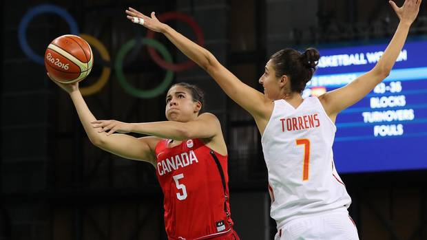 Canada falls to Spain in Olympic women's basketball, will face France in quarter-final