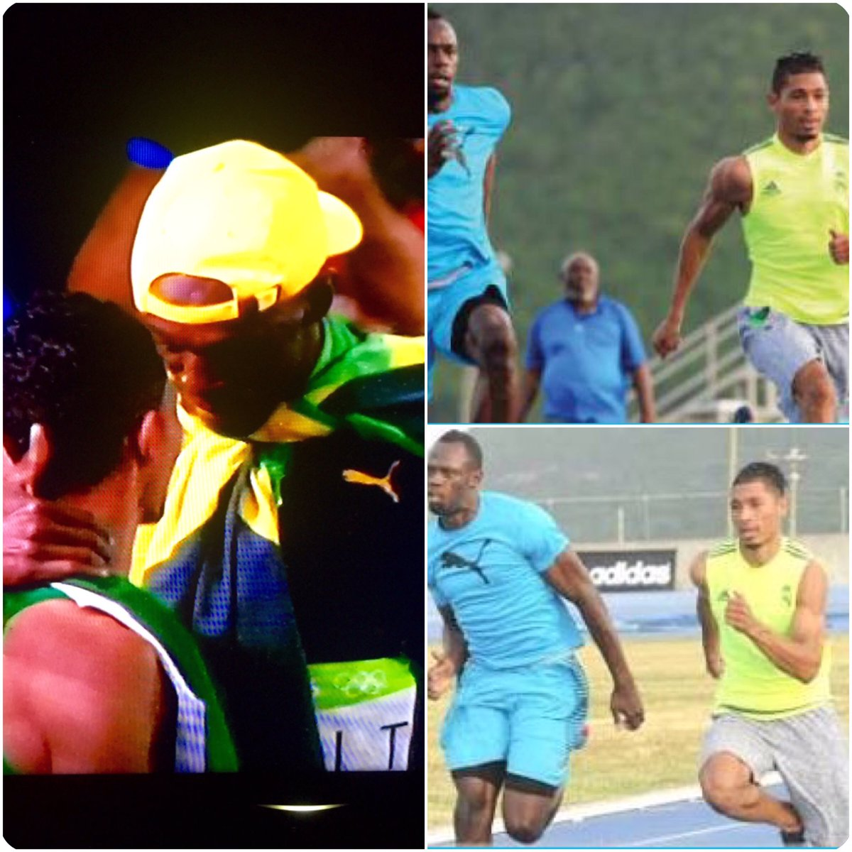 They trained together and today @usainbolt & @WaydeDreamer have both won #Gold at the #Olympics. #RealRecogniseReal https://t.co/7mHt7BdskO