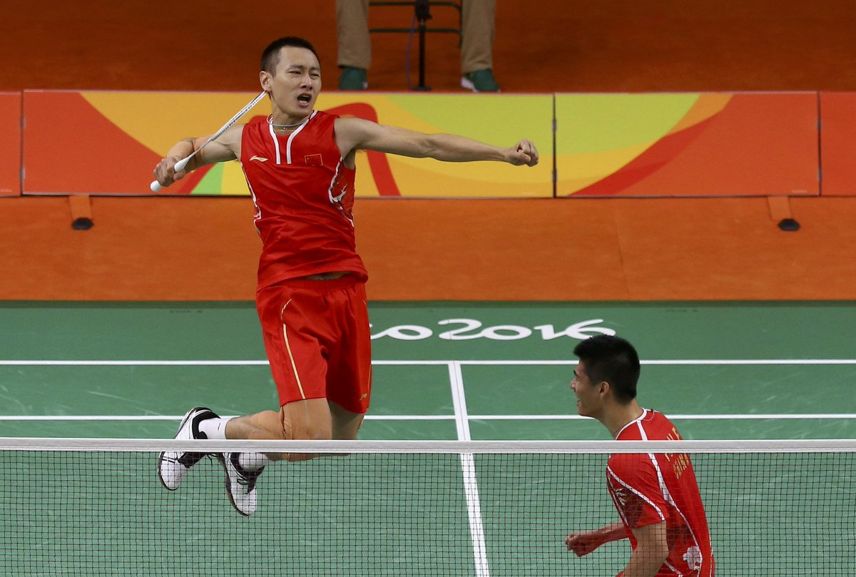 Badminton players fu haifeng & zhang nan defeat korean rivals to