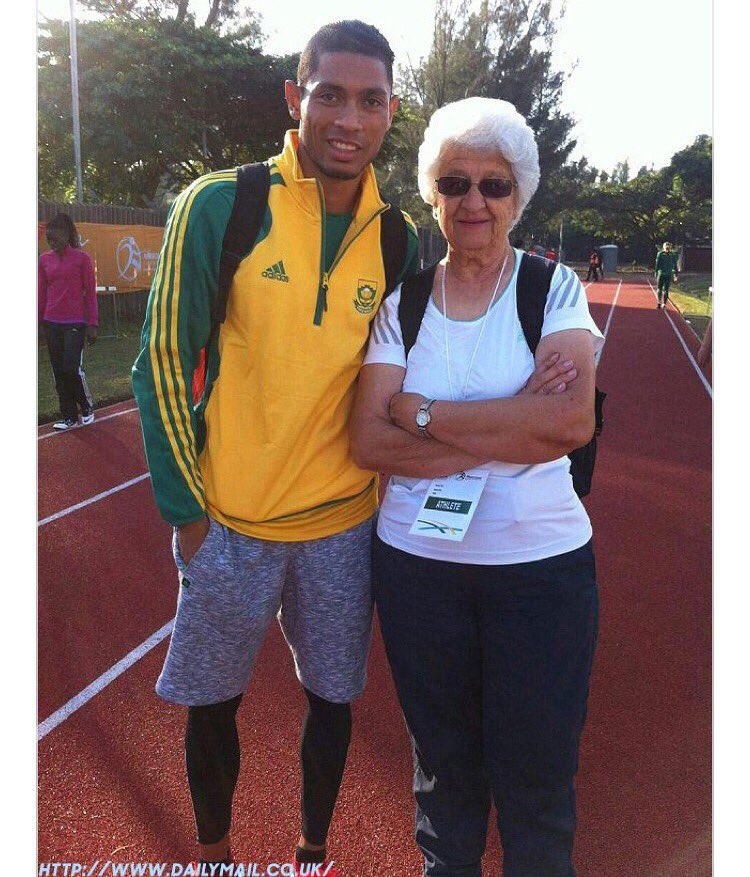 Our star @WaydeDreamer 74 yr old coach #AnsSophiaBotha is one more example women are the best. #HappyWomensMonth. https://t.co/RU47vYiKLX