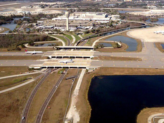 Vehicle strikes 3 pedestrians outside Orlando airport