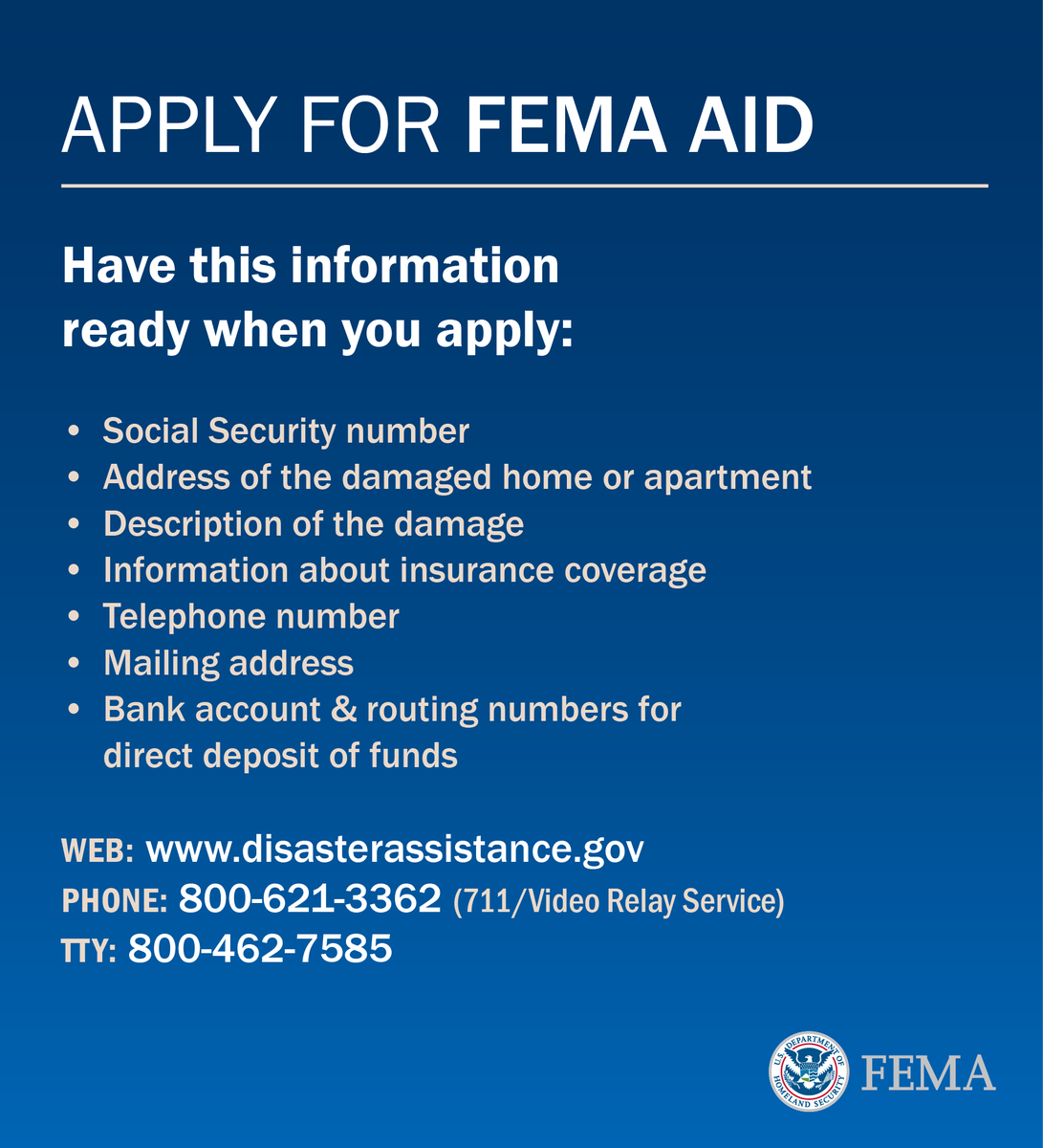 If you were affected by the #LAflood, apply for assistance at https://t.co/mSsI4eEQev or call 800-621-3362. https://t.co/PdXAvF2Ohc