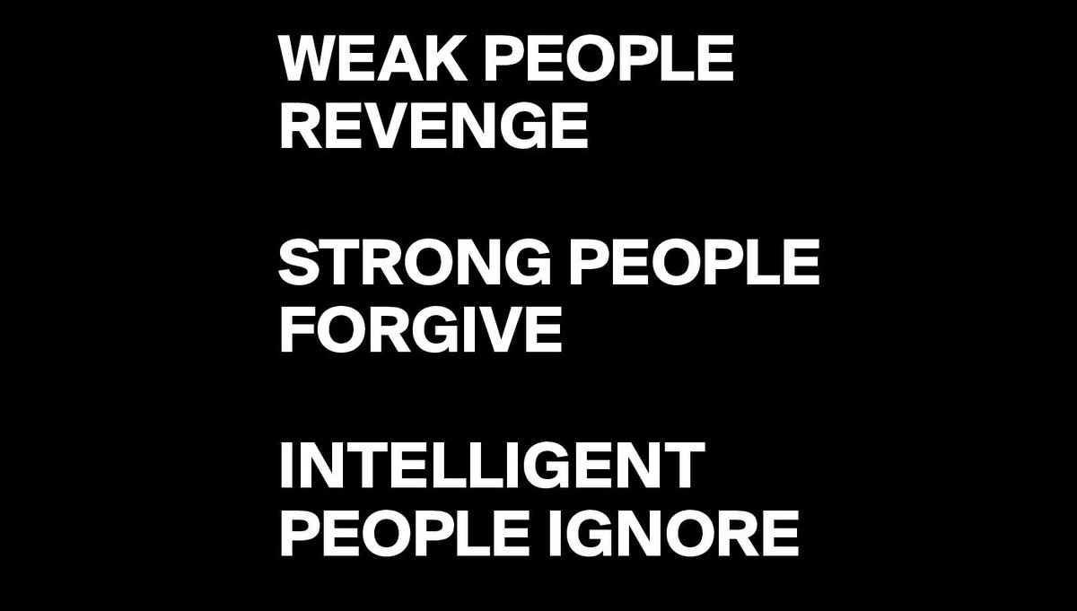 • Weak people revenge. • Strong people forgive. • Intelligent people ignore.  - Albert Einstein #mondaymotivation https://t.co/nXAYJc5k28