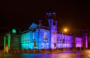 We're floodlighting Hamilton Town House tonight in support of the @Paisley2021 bid to be the UK's City of Culture. https://t.co/m9ugazK9bh