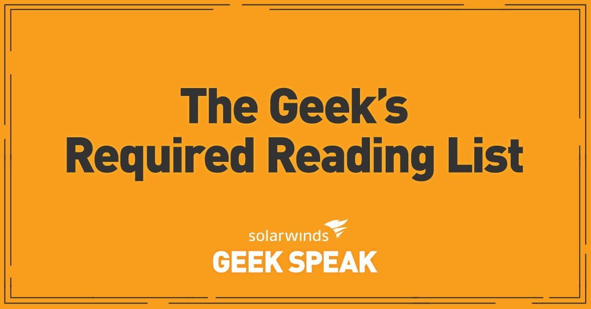 Geek-recommended and Geek-approved: Here's the IT professional's required reading list! https://t.co/N2u27Spyi8 https://t.co/iWz7FsfQsj