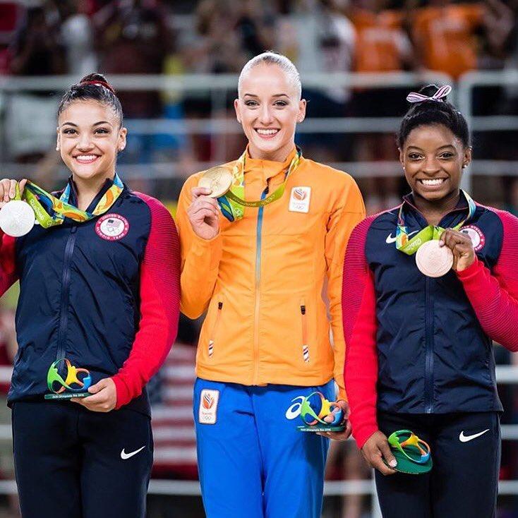 Congrats @lauriehernandez_ & @simonebiles on the new hardware! #rio2016 #gymnastics #olympics @USAGym @TeamUSA https://t.co/npDMPOKrr8