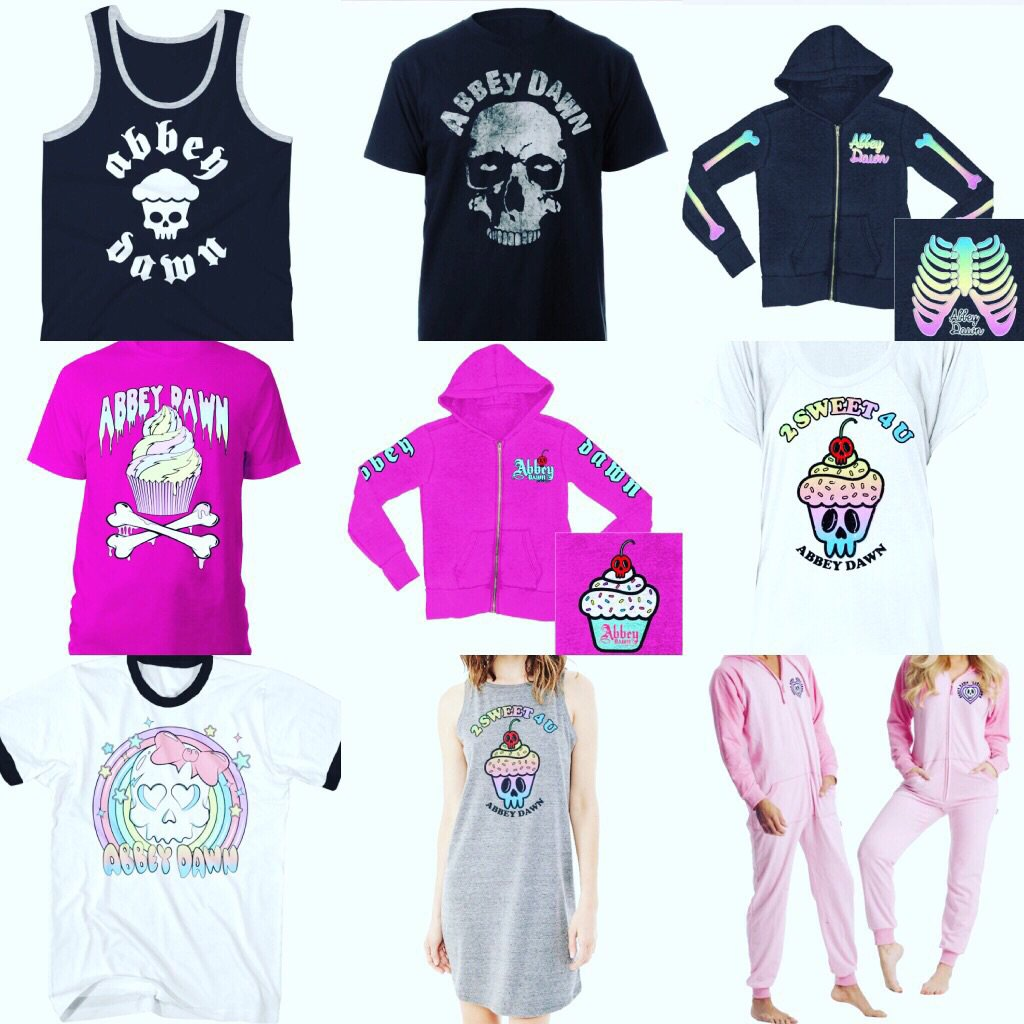 The new #AbbeyDawn merch has arrived! Chicks, bois and unisex items available here https://t.co/xOsPcQA4Q8 https://t.co/VF6kPIKrvE