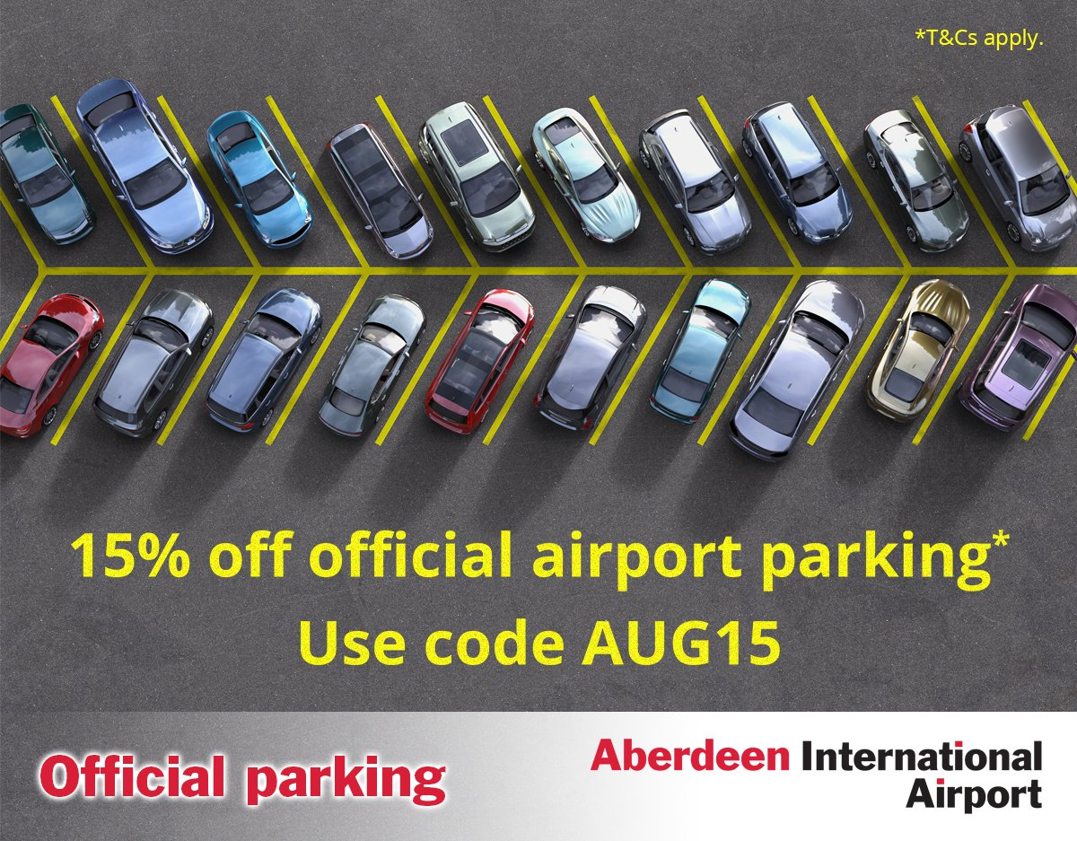 Save 15% on official Short Stay parking when booked by 30/9/16 using code AUG15. *T&Cs apply