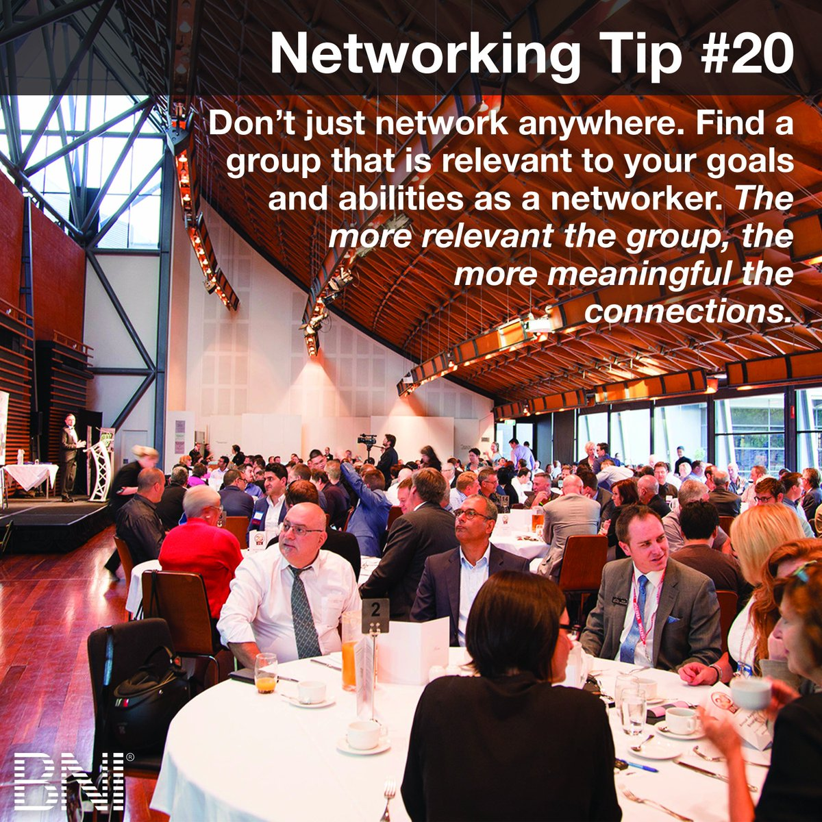 Networking tip: You can't attend everything, so make your networking events as impactful as possible.