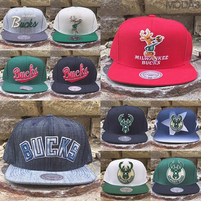 A grip of new @Bucks lids from @mitchell_ness are now available...Snapback & fitted options on deck! #milwaukeebucks https://t.co/0VWWVBPnoj