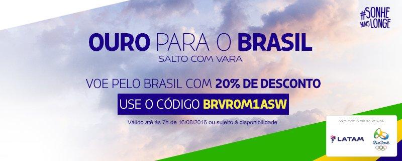 Thiago Braz conquistou o ouro no Saltocomvara! Comemore voando pelo